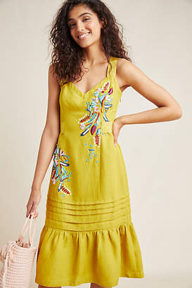 Maeve Chicory Beaded Dress