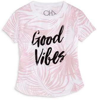 Chaser Girls' Palm-Print Good Vibes Tee - Little Kid, Big Kid