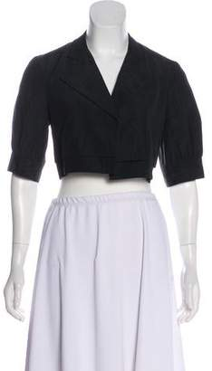 Yigal Azrouel Short Sleeve Open-Front Bolero