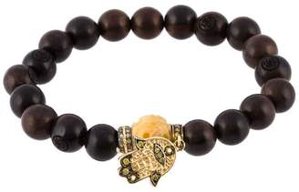 Loree Rodkin bead diamond Hamsa bracelet