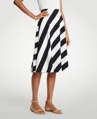 Ann Taylor Nautical Stripe Full Skirt