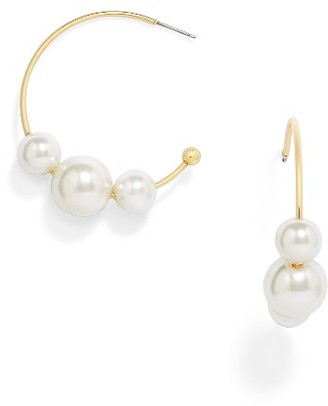 Women's Baublebar Ariella Hoop Earrings $28 thestylecure.com