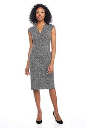 Maggy London Women's Novelty Jacquard Cap Sleeve Sheath