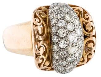 Ring Diamond Scroll
