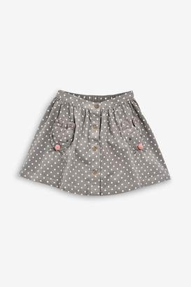 Next Girls Character Pockets Cord Skirt (3mths-7yrs) - Grey