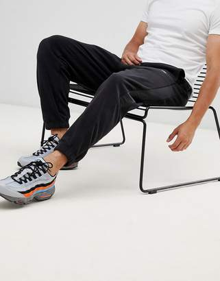Nike Fleece Joggers With Side Stripe In Black 929126-010