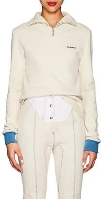 Calvin Klein Women's Thermal-Knit Cotton Quarter-Zip Top