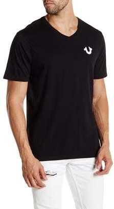 True Religion Solid Logo V-Neck Tee