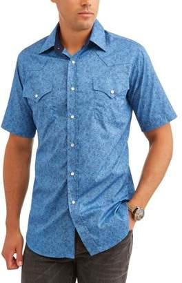 Plains Big and Tall Mens Short Sleeve Premium Cotton Paisley Print Shirt