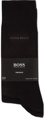 HUGO BOSS Pack of two plain socks
