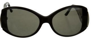 Judith Leiber Jewel Embellished Tinted Sunglasses $100 thestylecure.com