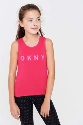 Next Girls DKNY Pink Logo Mesh Layer Vest