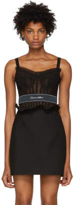 Dolce & Gabbana Black Tulle Bustier
