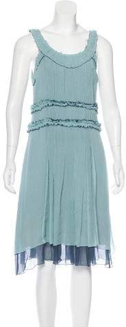 Marc by Marc Jacobs Pleated A-Line Dress