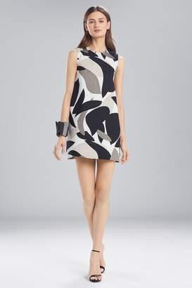 Natori Josie Abstract Printed Jacquard Sleeveless Dress