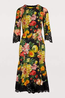 Dolce & Gabbana Flower mix midi dress