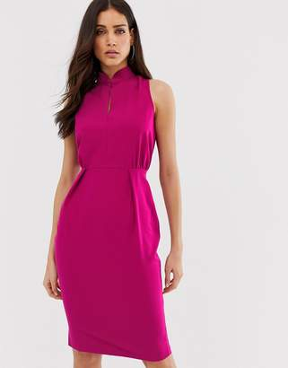 Closet London Closet mandarin collar pencil dress
