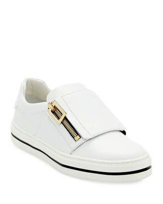Roger Vivier Sneaky Viv Leather Zip Sneakers
