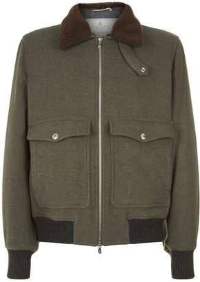 Brunello Cucinelli Shearling Collar Jacket