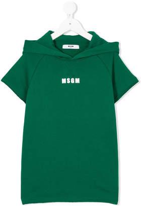 MSGM logo hooded T-shirt