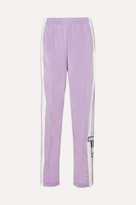 adidas Adibreak Appliqued Striped Satin-jersey Track Pants