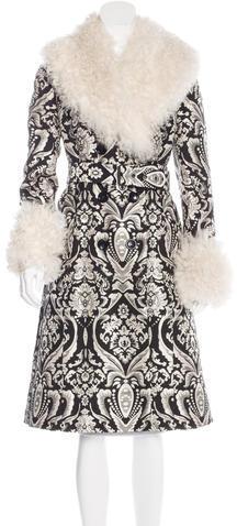 Alice + OliviaAlice + Olivia Shearling Jacquard Coat
