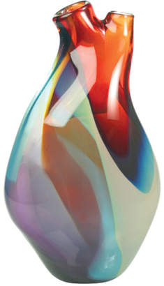 "Tsunami Glassworks Hand-Blown Heart Glass Vase ""Ventricle"""