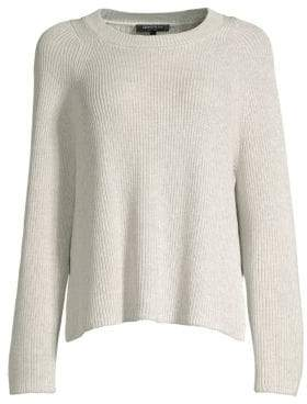 Lafayette 148 New York Women's Silk-Blend Side Slit Knit Sweater - Pebble Melange - Size XS