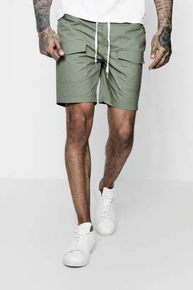 boohoo Woven Drawstring Shorts With Pockets