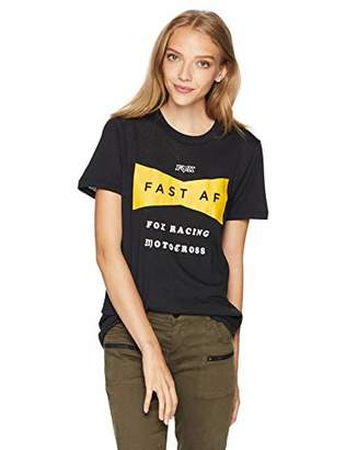 Fox Junior's Boyfriend FIT Fast AF Short Sleeve Crew T-Shirt