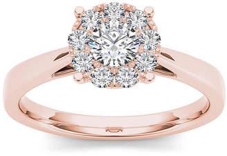 MODERN BRIDE 1/2 CT. T.W. Diamond 10K Rose Gold Engagement Ring