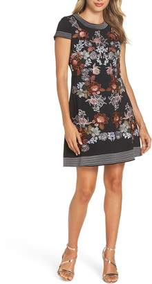Foxiedox Retro Flowers Embroidered Mini Dress