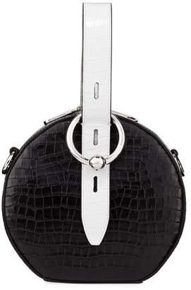 Rebecca Minkoff Kate Circular Embossed Top-Handle Bag