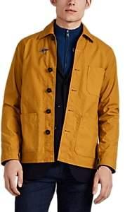 Fay Men's Waxed Cotton Canvas Work Jacket - Yellow