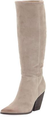 Charles by Charles David Nyles Western Block-Heel Knee Boots