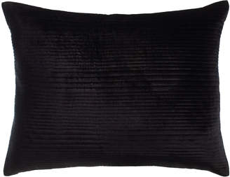 Callisto Home Standard Channel-Quilted Black Velvet Sham