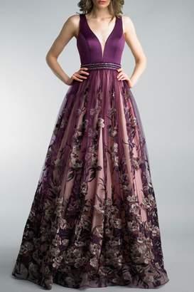 Basix II Sleeveless Evening Gown
