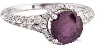 Ring 18K Ruby & Diamond Cocktail
