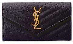 Saint Laurent Monogram Leather Large Flap Continental Wallet