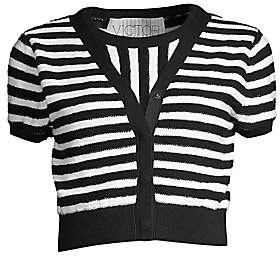 Victor Glemaud Women's Striped Terry Faux-Cardi Knit