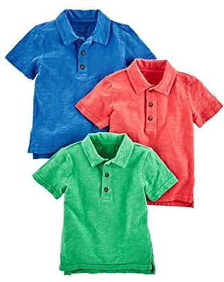 Carter's Simple Joys by Baby Boys' Toddler 3-Pack Short Sleeve Polo