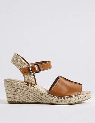 Marks and Spencer Leather Wedge Heel Espadrilles