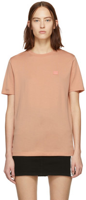 Acne Studios Pink Ellison Face T-Shirt