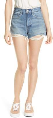 Rag & Bone Maya High Waist Cutoff Denim Shorts