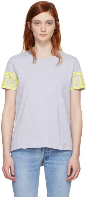 Grey Sport Straight T-shirt