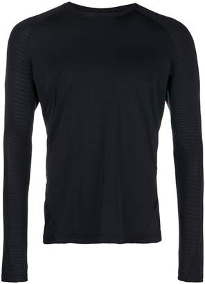 adidas crew neck fitted long sleeved top