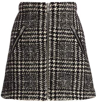 The Kooples Tweed Zip-Up Mini Skirt