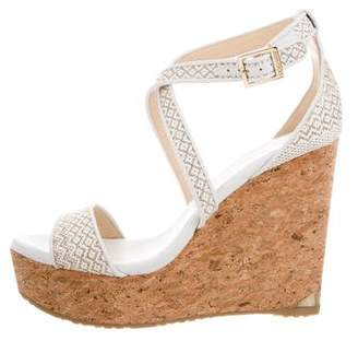 Jimmy Choo Portia Wedge Sandals w/ Tags