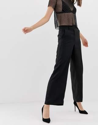 Warehouse tuxedo wide leg pants
