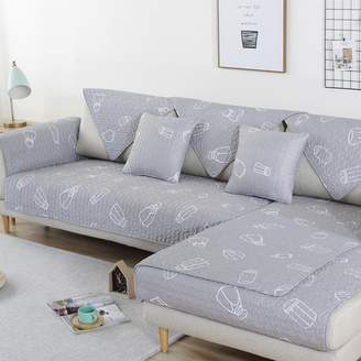 JiaQi Dust-Proof Couc,Anti-Slip Sofa Slipcovers,Nordic Sectional Couc Cover,Dust Cover Four Seasons Universal Multi-Size Living Room